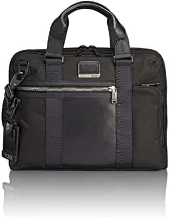 TUMI Alpha Bravo Charleston Compact Laptop Brief Briefcase - 14 Inch Computer Bag for Men and Women,Black