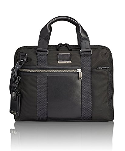 Case Nylon Ballistic Carry - TUMI Alpha Bravo Charleston Compact Laptop Brief Briefcase - 14 Inch Computer Bag for Men and Women,Black