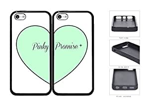 Mint Heart Pinky Promise Best Friends Set Rubber Silicone TPU Cell Phone Case Apple iPhone 5c