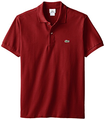 Lacoste Men's Classic Short Sleeve L.12.12 Pique Polo Shirt, Bordeaux, Medium ()
