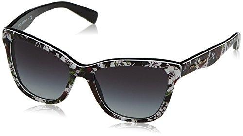 Dolce&Gabbana DG4237 Sunglasses 30198G-47 - Top Print Rose/black Frame, Grey - Rose Sunglasses Gabbana Dolce And