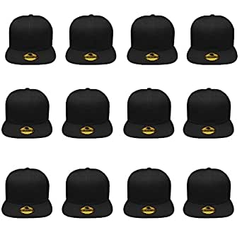 Gelante Plain Blank Flat Brim Adjustable Snapback Baseball ...