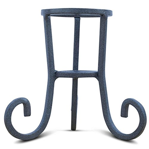 Iron Stand Wrought (BestPysanky Black Wrought Iron Metal Egg Stand Holder 4.25 Inches)