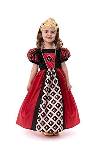 Little Adventures Queen of Hearts with Soft Crown Dress Up Costume Size Small Age 1-3