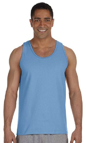 Gildan mens Ultra Cotton 6 oz. Tank(G220)-CAROLINA BLUE-XL