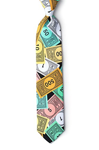 Black Poly Extra Long Tie | Play Money Extra Long Necktie