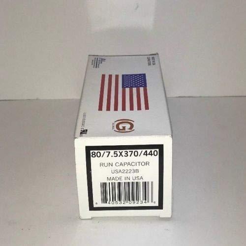 AMRAD USA Amrad Run Capacitor 80 + 7.5 uf MFD 370/440 Volt USA2223B