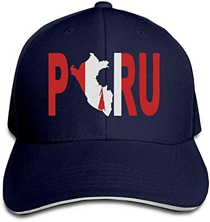 Presock Gorra De Béisbol, Gorro/Gorra Unisex Peru Peruvian Flag ...