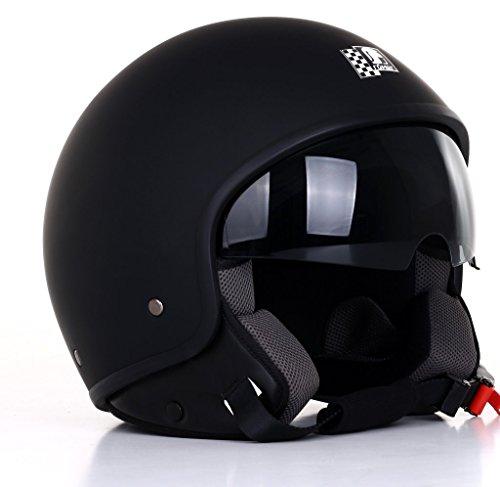 Römer Helmets Motorradhelm Custom, Matt Schwarz, Größe XL