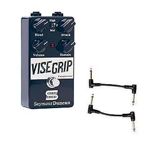 Seymour Duncan 11900-006 Vise Grip Studio Grade Guitar Compressor Pedal with 2 Patch Cables