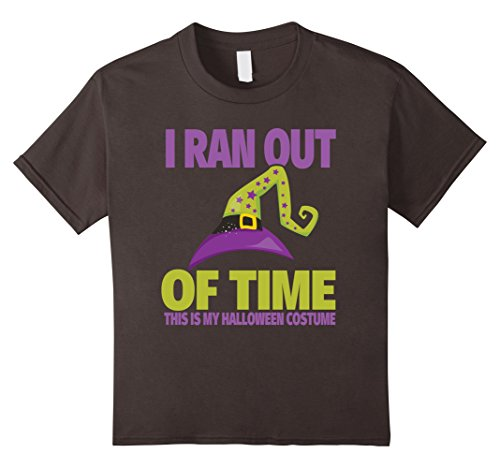 Kids I Ran Out of Time, This Is My Halloween Costume T-Shirt 6 Asphalt