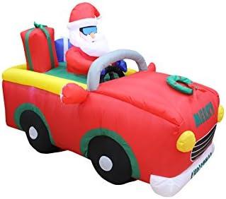 Amazon.com: 6 foot largo Lighted Riding coche rojo de Papá ...