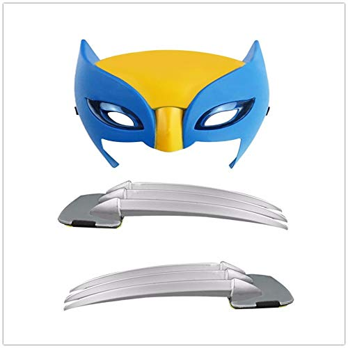 (PAPCOOL Wolverine Claws 10 inch and Mask Hot Toys Cosplay Logan the Legends Plastic Claw Toy Origins Halloween Christmas Collectibles Gift Collectable Gifts Collectible for Kids Baby Toddlers Boys)