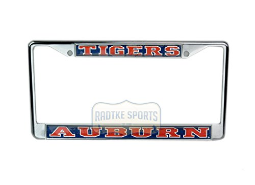 (Auburn Tigers Officially Licensed NCAA Domed Chrome Tag Frame)