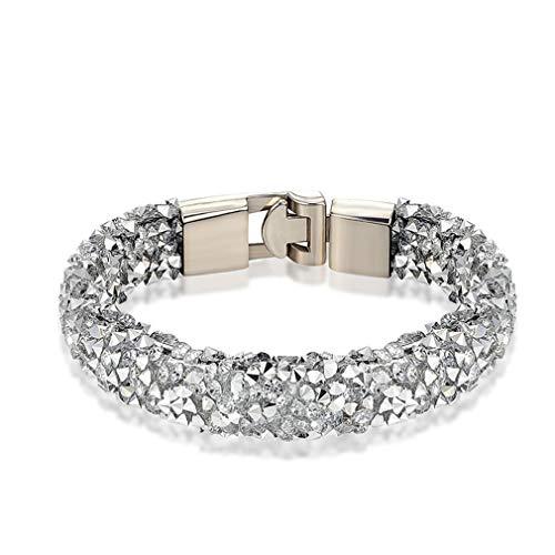 Hotesea Crystal Bracelet Men Bracelet Women Bracelet Best Gift TZ146 21cm ()