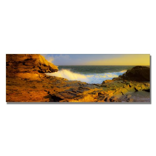 Pemaquid Point, Maine by Preston, 16x47-Inch Canvas Wall Art