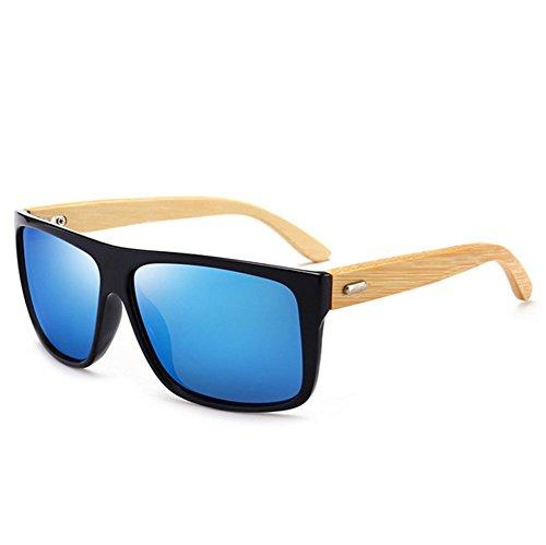 soleil de Cadre bois en colorés Mens lunettes Verres E polarized qfEUtU