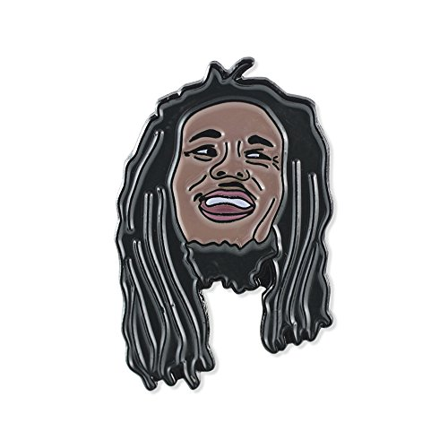 Legendary Pop Icons Celebrity Musical Artists Enamel Lapel Pins- Bob Marley