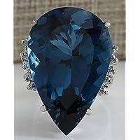 Fashion Women Jewelry 925 Silver Dark Blue Sapphire Gemstone Wedding Ring 6-10 by Siam panva (7)