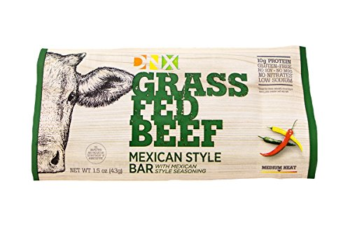 DNX Bar-Grass Fed Beef Paleo Protein Bar-Mexican Style- Organic Fruits and Veggies, Gluten Free, Non-GMO, No Dairy, Whole30 Approved, Paleo Inspired Meat Bar with a Truly Epic Taste (8 Bars) by DNX