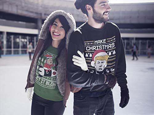 Kim Verde Natale Shirtgeil Let It Uomo Felpa Un Babbo maglione Funny Jong Da Blow OZqYUawq6x