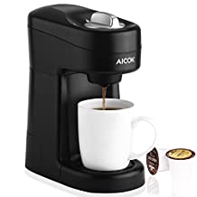 Aicok Capsule Coffee Maker, Single Serve Coffee Machine for Most Single Cup Pods Including K-Cup Pods, Quick Brew Technology Coffee Brewer