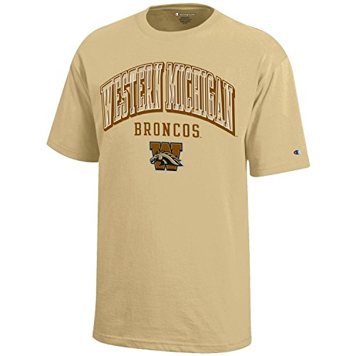 Champion NCAA Western Michigan Broncos Youth Boys Short Sleeve Jersey T-Shirt, Large, Gold ()