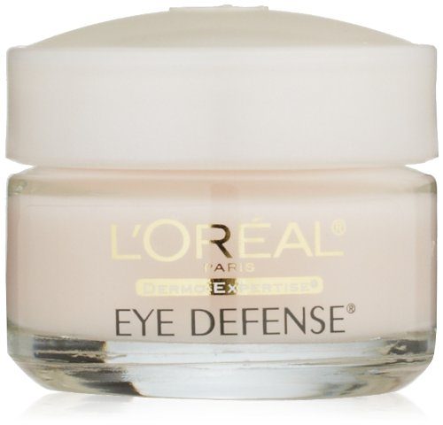 L'Oreal Paris Skincare Dermo-Expertise Eye Defense Eye Cream with Caffeine and Hyaluronic Acid For All Skin Types 0.5 oz. (Best Drugstore Dark Circle Cream)
