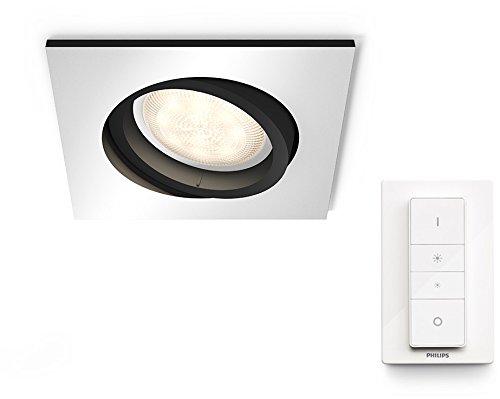Philips Hue Hue White Ambiance Milliskin Foco LED Inteligente empotrable Cuadrado, 5.5 W, con