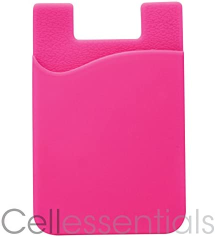 Cell Phone Wallet by Cellessentials: (for Credit Card & Id) | Works with Almost Every Phone | iPhone, Android & Most Smartphones | 3 Pc Pack (Black, Grey & Pink) 41yhR rV3IL