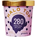 Halo Top Ice Cream Pint, Black Cherry, 16 Ounce (Pack of 8)