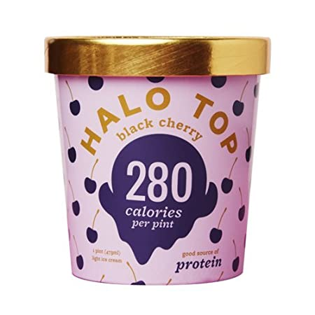 Halo Top Ice Cream Pint Birthday Cake 16 Ounce Pack of 8