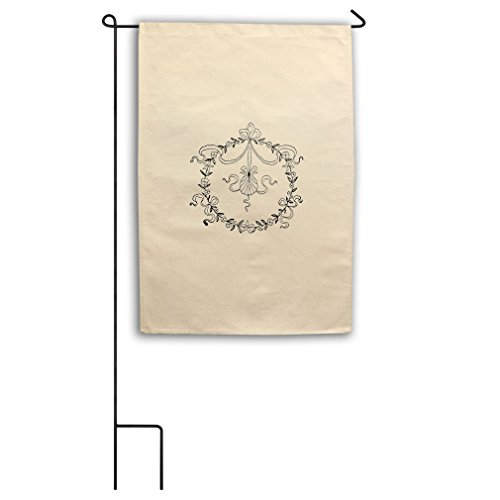 Shell And Garland #2 Canvas Yard House Garden Flag 18