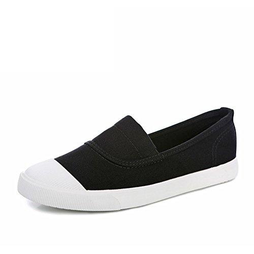 Lok Fu Llevaba Zapatos Blancos,Los Zapatos De Las Mujeres,Primavera Transpirable Zapatos Ayuda A Gente Perezosa Con Plano,Alpargatas De Shell-dedo Del Pie B