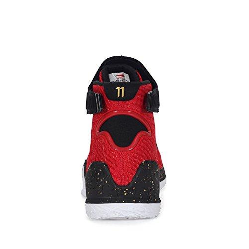 Anta 2017 Chaussures De Basket-ball Des Hommes Kt3 Rouge / Or / Blanc