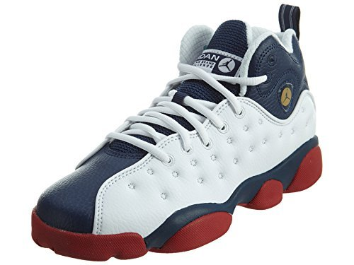 JORDAN Jumpman Team Ii Big Kids Style, White/Mid Navy/Gym Red/Metallic Gold, 5.5 by Jordan