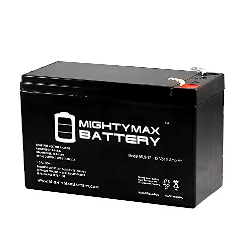 Mighty Max Battery ML9-12 12 V 9 Ah Rechargeable SLA Battery