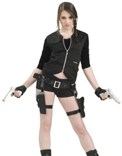 [Treasure Huntress Tomb Vixen Thigh Holster Set w/ Guns Adult Halloween Costume Accessory (XFO16)] (Halloween Accessories)