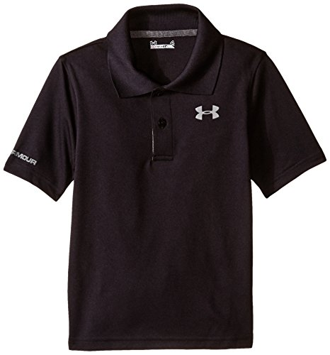 Under Armour Little Boys' Ua Logo Short Sleeve Polo, Black, - Polo Outlet Kids