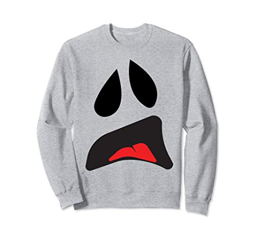 Big Ghost Face - Easy Couples Halloween Costume Idea Sweatshirt