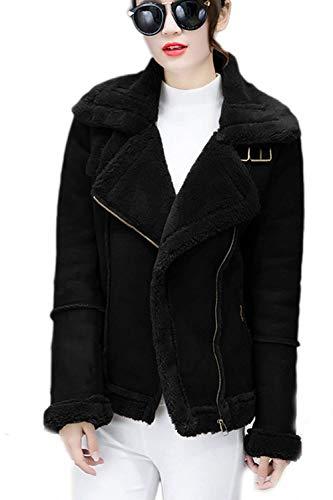 Fashion Tempo Invernali Donna Lana Calda Lunghe Outerwear Transizione Maniche Nero Eleganti Libero Con Grazioso Tasche Corto Cappotto Stlie Di Autunno xn4px