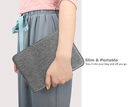 "MoKo 7-8 Inch Tablet Sleeve Bag, Polyester Pouch Cover Case Fits iPad Mini (5th Gen) 7.9"" 2019, iPad Mini 1/2 / 3/4, Samsung Galaxy Tab S2 8.0, Tab A 8.0, NeuTab 7"", ZenPad Z8s 7.9 - Light Gray"