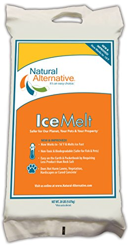 Natural Alternative Ice Melt Another NATURLAWN Product - 20 Lb Bag - Safer for Pets, Property & the Environment by Natural Alternative, Inc.