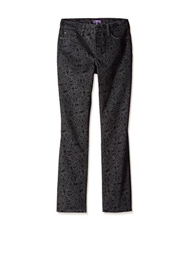 Pants Jeans Velvet (NYDJ Womens Velvet Jacquard Skinny Jeans Black 10)