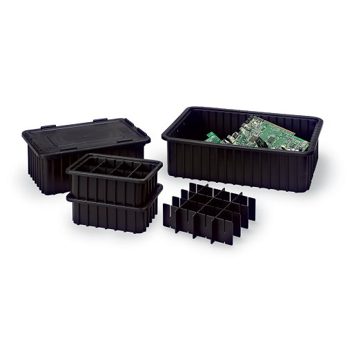Lewisbins+ Vertical Dividers For Conductive Divider Boxes - Short Dividers - Slot Qty. 15 - Fits Box (Lewisbins+ Dividers)