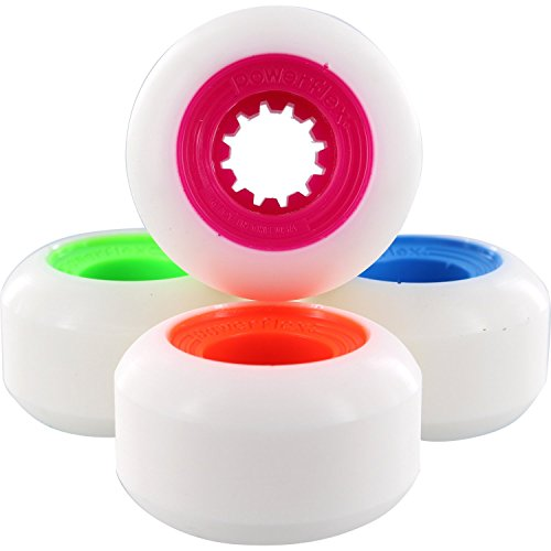 顕現業界セクションPowerflex Gumball 54 mm 83bホワイト/ Mix ( M、O、L、B ) Skateboard Wheels ( Set of 4 )