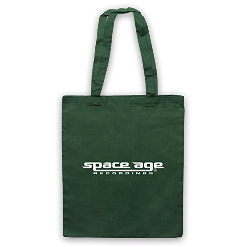 Space Age Recordings® Record Label Logo Official Licensed Bolso Verde Oscuro