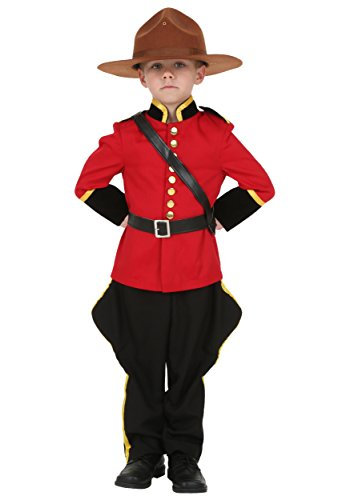 Mountie Costume Fancy Dress (Toddler Canadian Mountie Costume 2T)