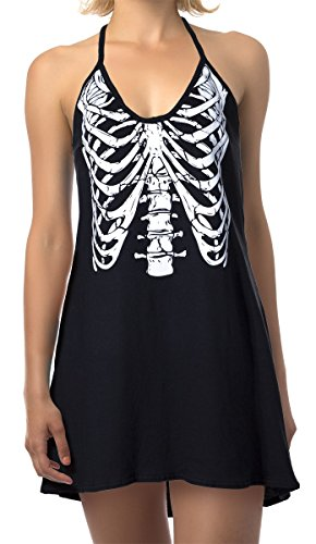 Ladies' Glow-in-The-Dark Skeleton Cover-up Dress (Large)