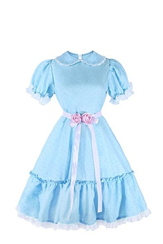 ROLECOS The Shining Twins Blue Chiffon Dress Puff Sleeve Halloween Cosplay Costume by ROLECOS
